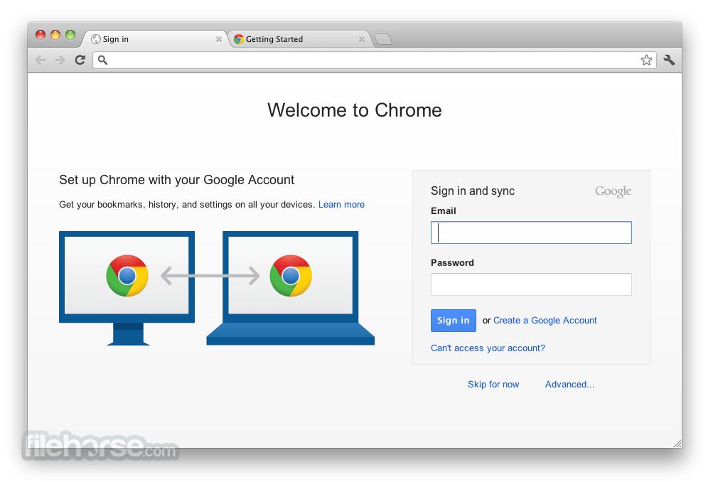 Синхронизация Темная тема Google Chrome в Mac OS