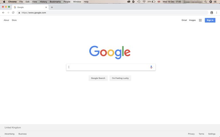 Google Chrome на Mac OS устройства